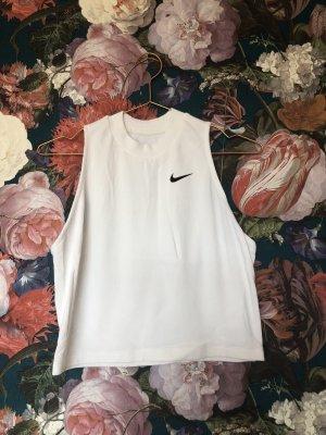 Nike Cropped top wit-zwart