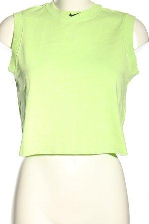 Nike Cropped Top grün schlichter Stil