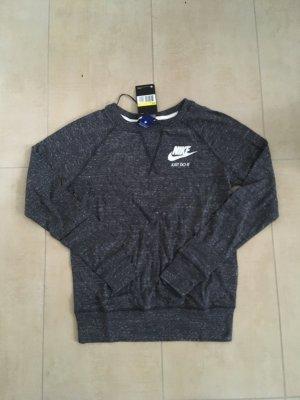 Nike Damen Sweatshirt Langarmshirt Pulli Größe S dunkelgrau melliert