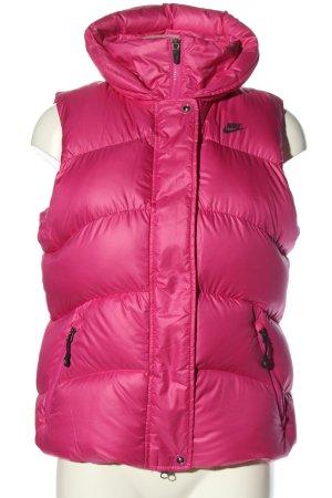 Nike Gilet en duvet rose motif de courtepointe style décontracté