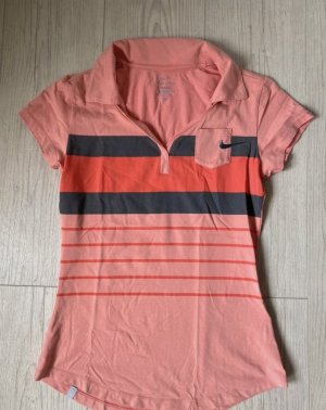 Nike Dri-Fit Sport Poloshirt Größe 36/S Orange pink