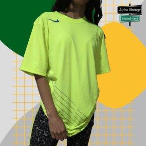 Nike Drifit Sportshirt Sportwear Neon Gelbes T-Shirt | S