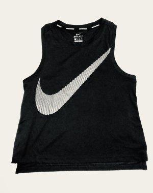 Nike Dry City Core Singlet Black Gr. XS 34 Tanktop cropped Sporttop schwarz Swoosh