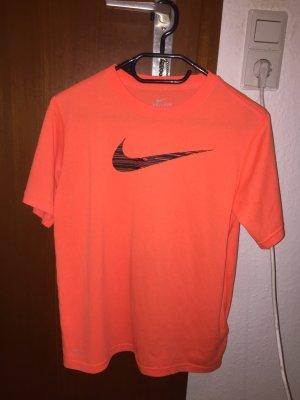 Nike dry fit t-Shirt Sport Shirt neon orange Vintage