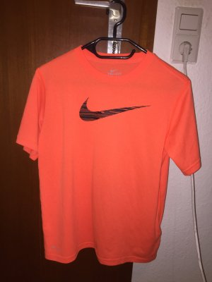 Nike dry fit t-Shirt Sport Shirt neon orange Vintage