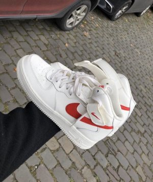 Nike High top sneaker wit-rood
