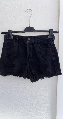 Hollister Spodnie z wysokim stanem czarny