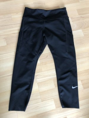 Nike Epic Lux Crop Running Sporthose Lauf Leggins Hose 3/4 schwarz Gr. L / 40