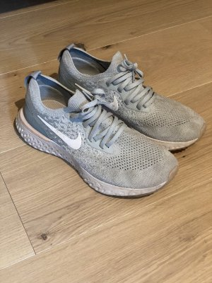 Nike epic react flyknit light Silver 40 Turnschuhe Damen Green grey