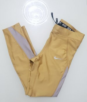 Nike Fitness Leggings Tights Metallic Gold