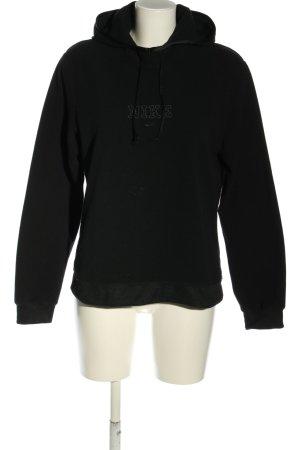 Nike Fleecepullover schwarz Schriftzug gestickt Casual-Look