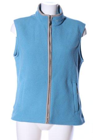 Nike Chaleco de forro azul-gris claro look casual