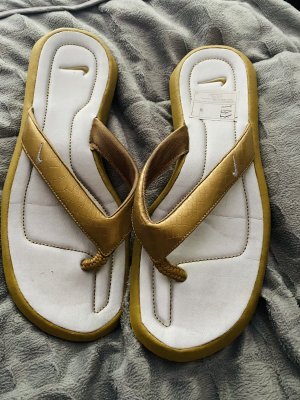 Nike Flip-Flops neu Gold in 37