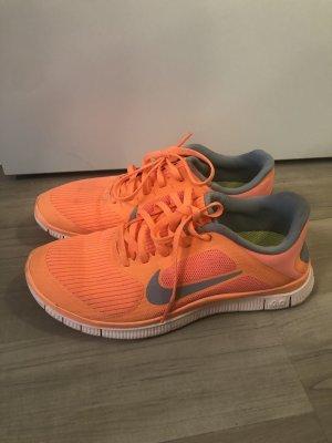 Nike free 4.0 orange Gr. 37/38
