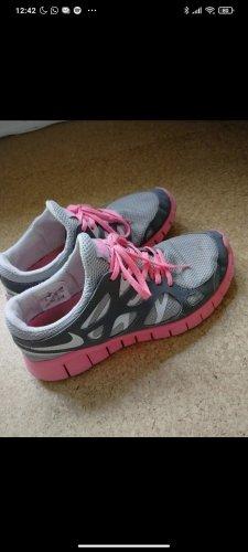 Nike free Grau, pink 42
