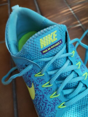 Nike Free RN Distance 2 Damen 41 blau türkis Sportschuhe Laufschuhe
