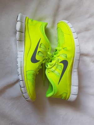 Nike Free Run 5.0 in neongelb