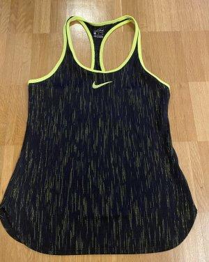Nike Dri-FIT T-shirt de sport noir-jaune fluo