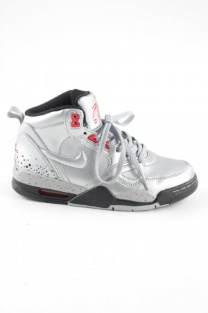 Nike Sneaker alta argento-rosso stile casual