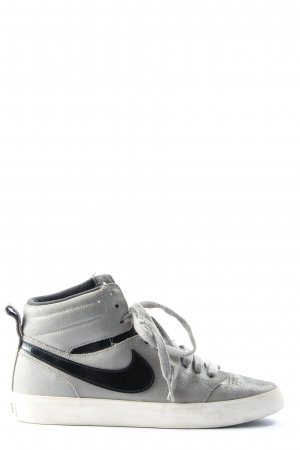 Nike High Top Sneaker hellgrau-schwarz Casual-Look