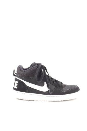 Nike Zapatillas altas negro-blanco look casual