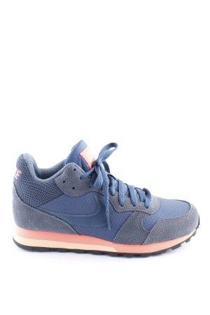 Nike High Top Sneaker blau-pink Casual-Look