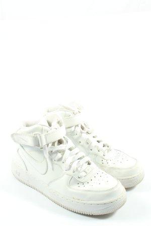 Nike High Top Sneaker weiß Motivdruck Casual-Look