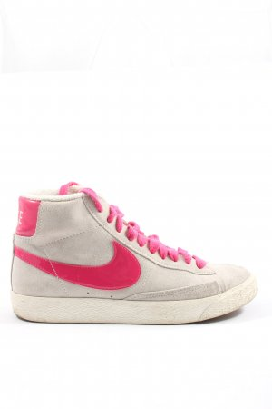 Nike High Top Sneaker hellgrau-pink Casual-Look