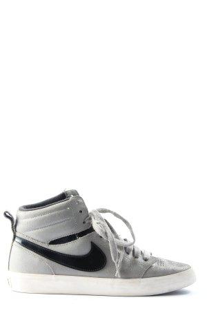 Nike High Top Sneaker hellgrau-schwarz Casual-Look