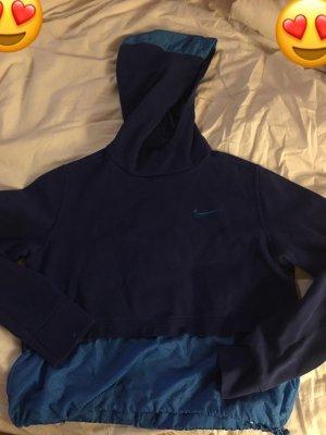 Nike Pull à capuche bleu-bleu fluo