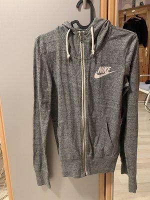 Nike Giacca fitness grigio-bianco