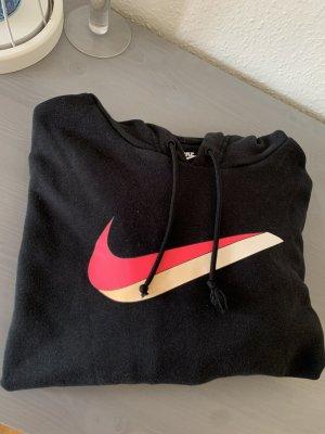 Nike Pull à capuche noir-rose