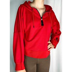 Nike Hoodie cropped Gr. 38 rot Kapuzenpullover Nylon Baumwolle Sweatshirt