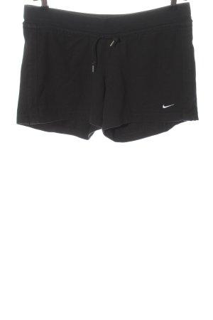 Nike Hot Pants schwarz Motivdruck Casual-Look