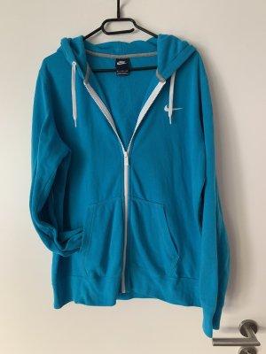 Nike Fleece Jackets blue-neon blue