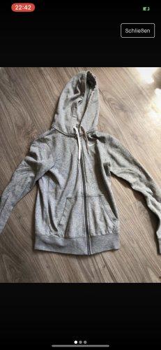 Nike Veste sweat gris clair-blanc