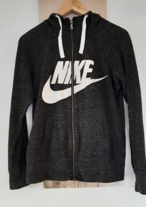 Nike Veste à capuche noir-gris anthracite