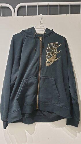 Nike Kurtka z kapturem czarny-złoto
