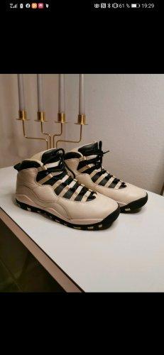 Air Jordan Basket à lacet noir-beige