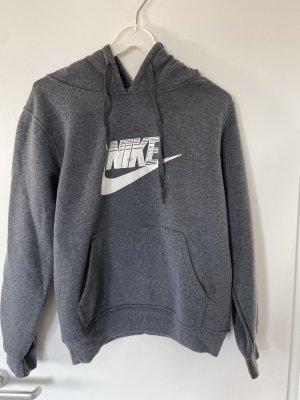 Nike Pull à capuche gris-blanc