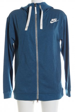 Nike Kapuzenjacke blau-weiß meliert Casual-Look