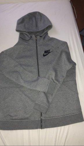 Nike/Kapuzenjacke grau/schwarz, Gr. M