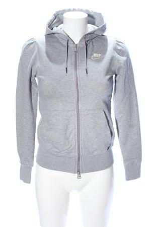 Nike Giacca con cappuccio grigio chiaro puntinato stile casual