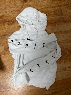 Nike Maglione con cappuccio bianco-nero