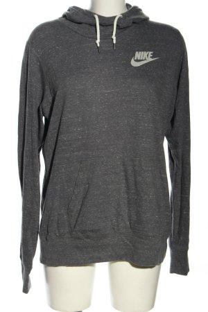 Nike Kapuzenpullover schwarz meliert Casual-Look