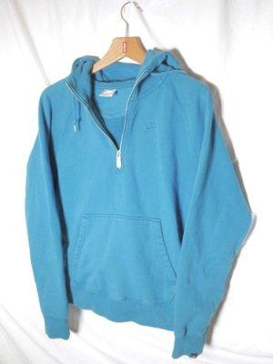 Nike Kapuzenpullover / Hoodie mit Bauchtasche und Reisverschluss (blau)