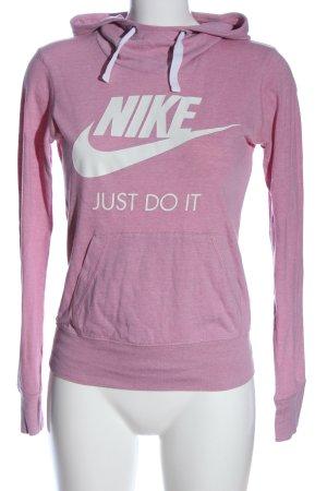 Nike Kapuzenpullover pink Schriftzug gedruckt Casual-Look