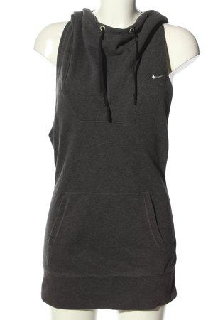 Nike Hooded Shirt light grey flecked casual look