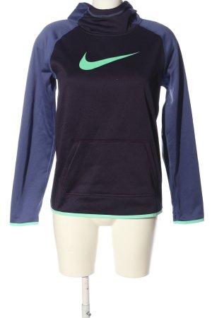 Nike Kapuzensweatshirt blau-türkis Motivdruck Casual-Look