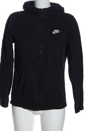 Nike Kapuzensweatshirt schwarz-weiß Schriftzug gestickt Casual-Look